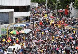 Fecode se tomó las calles de Bogotá