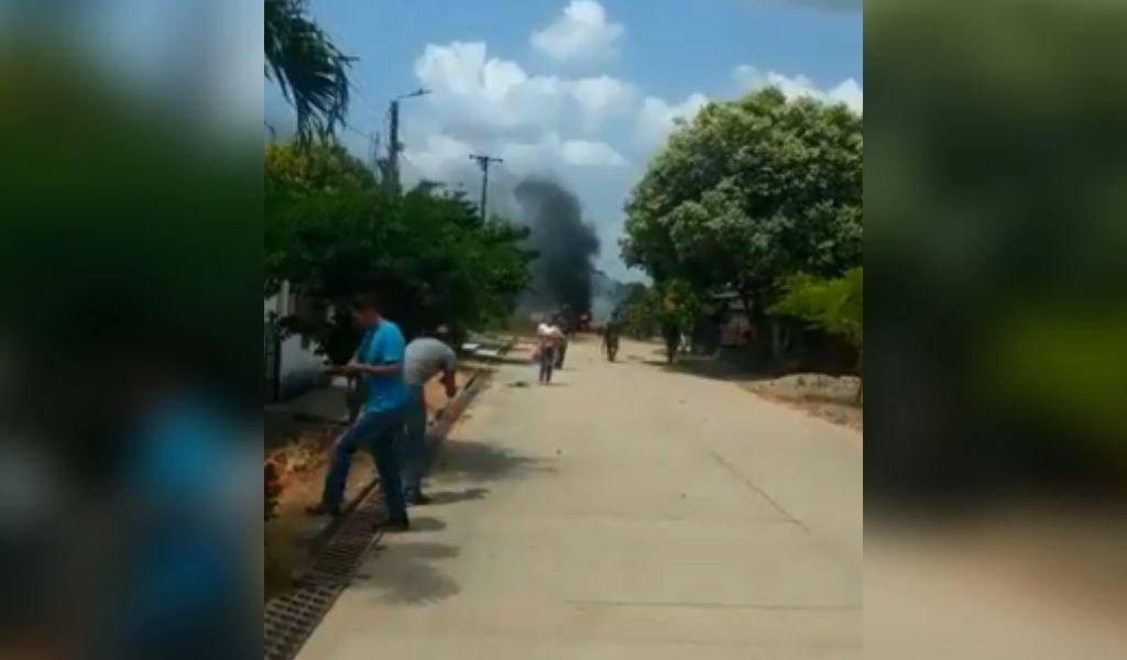 Estalló carrobomba en Puerto Rondón, Arauca
