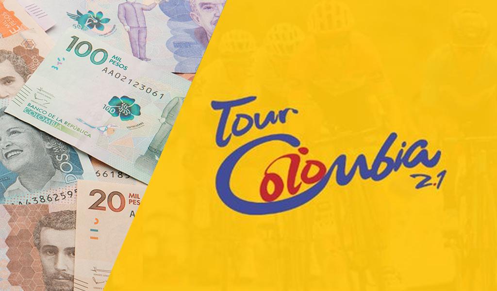 Bolsa de premios en Tour Colombia 2.1
