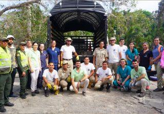 Caimán generó pánico en sitio turístico de Barranquilla