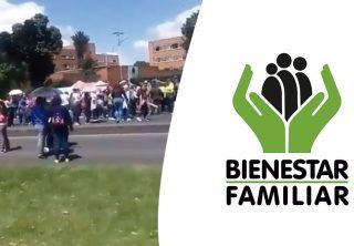 Madres comunitarias del ICBF protestan en Bogotá