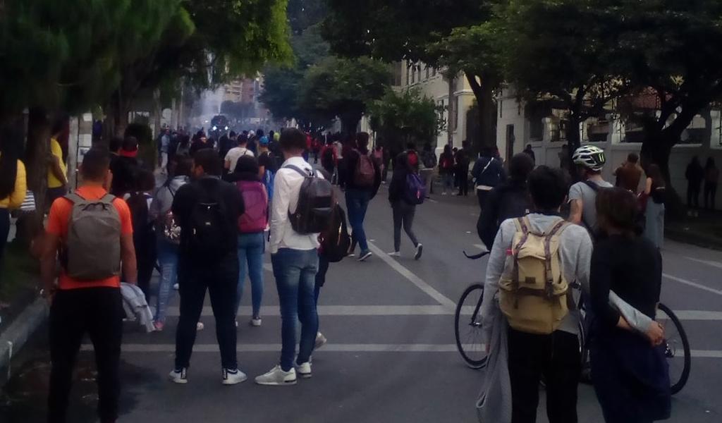 Fuertes protestas en universidades de Bogotá