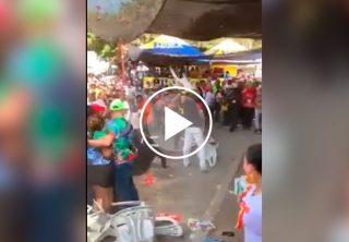 Fuerte agarrón durante el Carnaval de Barranquilla