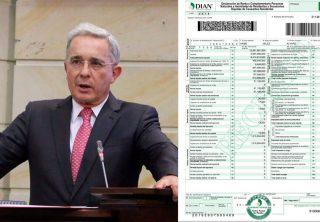Esta es la declaración de renta de Álvaro Uribe